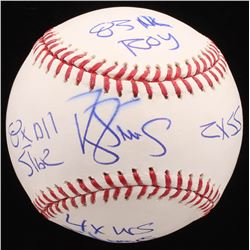 Darryl Strawberry Signed LE OML Baseball with (4) Career Highlight Stat Inscriptions (Radtke COA)