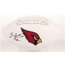 Edgerrin James Signed Arizona Cardinals Logo Football (Radtke COA)