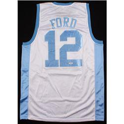 "Phil Ford Signed North Carolina Tar Heels Jersey Inscribed ""78 POY"" (PSA COA)"