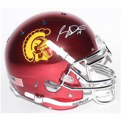 Sam Darnold Signed USC Trojans Full-Size Authentic On-Field Chrome Helmet (Radtke COA)