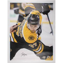 Patrice Bergeron Signed Boston Bruins 34x44 Canvas (Bergeron COA)