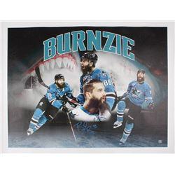 Brent Burns Signed San Jose Sharks 34x44 Canvas (Burns COA)