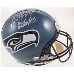 """Marshawn Lynch Signed Seattle Seahawks Throwback Full-Size Authentic On-Field Helmet Inscribed """"Go H"""