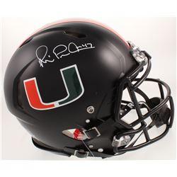 Michael Irvin Signed Miami Hurricanes Full-Size Authentic On-Field Speed Helmet (Beckett COA)