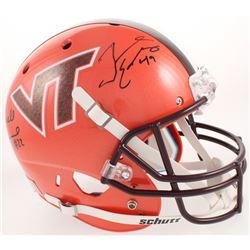 Terrell Edmunds  Tremaine Edmunds Signed Virginia Tech Hokies Full-Size Helmet (Radtke COA)