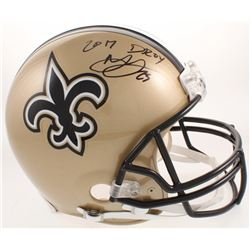 """Marshon Lattimore Signed New Orleans Saints Full-Size Authentic On-field Helmet Inscribed """"2017 DROY"""
