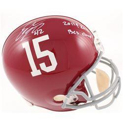 "Eddie Lacy Signed Alabama Crimson Tide Full-Size Helmet Inscribed ""2011  2012 BCS Champs"" (Radtke CO"