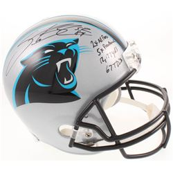 Steve Smith Sr. Signed Carolina Panthers Full-Size Helmet With (4) Career Stat Inscriptions (Smith H