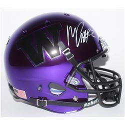 Marcus Peters Signed Washington Huskies Full-Size Chrome Helmet (Radtke COA)