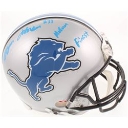 """Kerryon Johnson Signed Detroit Lions Full-Size Authentic On-Field Helmet Inscribed """"Motown Finest"""" ("""