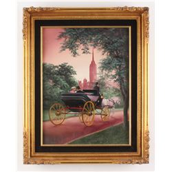 "Crystal Skelley Signed ""Jackson Square"" 16.5x20.5 Custom Framed Original Painting on Canvas Display"