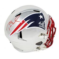 Tom Brady Signed New England Patriots Full-Size Chrome Speed Helmet (TriStar Hologram)