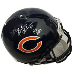 """Brian Urlacher Signed Chicago Bears Full-Size Authentic On-Field  Helmet Inscribed """"HOF 2018"""" (Schwa"""