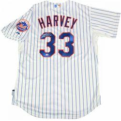 Matt Harvey Signed New York Mets Jersey (Steiner COA  MLB Hologram)