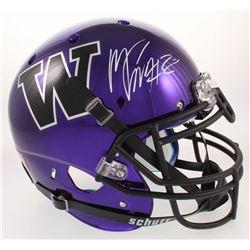 Marcus Peters Signed Washington Huskies Full-Size Authentic On-Field Chrome Helmet (Radtke COA)