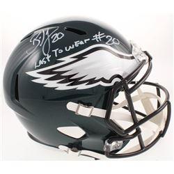 "Brian Dawkins Signed Philadelphia Eagles Full-Size Speed Helmet Inscribed ""Last To Wear #20"" (JSA CO"