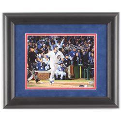 Kyle Schwarber Signed Chicago Cubs 14x17 Custom Framed Photo Display (Schwartz COA  MLB Hologram)