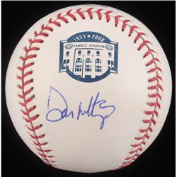 Don Mattingly Signed New York Yankees Stadium Commemorative OML Baseball (JSA COA)