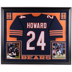 Jordan Howard Signed Chicago Bears 35.5x43.5 Custom Framed Jersey Display (Schwartz COA)