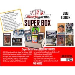 """""""Super Box 2019"""" Mystery Sports Cards Box! 25+ Items Per Box! JAM PACKED!"""
