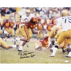 "O.J. Simpson Signed USC Trojans 16x20 Photo Inscribed ""Heisman 68"" (JSA COA)"