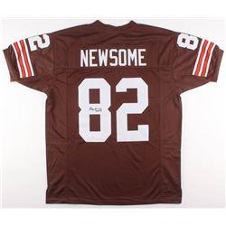 "Ozzie Newsome Signed Cleveland Browns Jersey Inscribed ""HOF 99"" (JSA COA)"