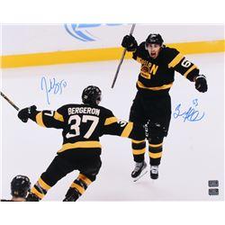 Patrice Bergeron  Brad Marchand Signed Boston Bruins 16x20 Photo (Bergeron  Marchand COA)
