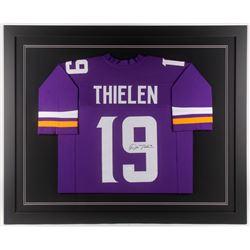 Adam Thielen Signed Minnesota Vikings 35x43 Custom Framed Jersey (JSA COA)