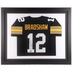 Terry Bradshaw Signed Pittsburgh Steelers 35x43 Custom Framed Jersey (Radtke COA)