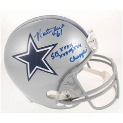 """Nate Newton Signed Cowboys Full-Size Helmet Inscribed """"SB XXVII, XXVIII, XXX Champion"""" (JSA COA  Rad"""