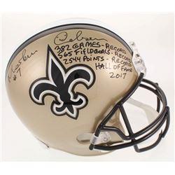 Morten Andersen Signed LE New Orleans Saints Full-Size Helmet With Multiple Inscriptions (Radtke COA