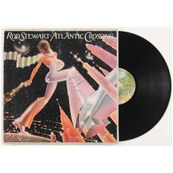 "Rod Stewart Signed ""Atlantic Crossing"" Vinyl Record Album Inscribed ""Good Luck"" (REAL LOA  JSA COA)"