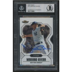 Mariano Rivera Signed 2007 Finest #121 (BGS Encapsulated)