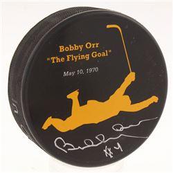 Bobby Orr Signed Boston Bruins Logo Hockey Puck (Great North Road Marketing COA)