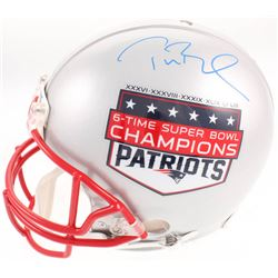 Tom Brady Signed New England Patriots 6-Time Super Bowl Champion Full-Size Authentic On-Field Helmet