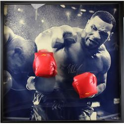 """Mike Tyson Signed """"Breaking Through"""" 42x42 Custom Framed Limited Edition Photo Display (UDA COA)"""