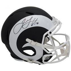 Jared Goff Signed Los Angeles Rams Full-Size Speed Helmet (Fanatics Hologram)