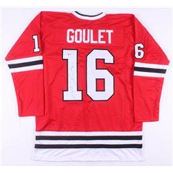 Michel Goulet Signed Chicago Blackhawks Jersey (Beckett COA)
