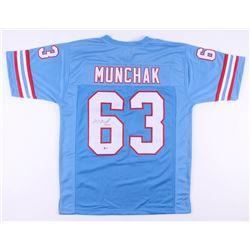 "Mike Munchak Signed Houston Oilers Jersey Inscribed ""HOF 2001"" (Beckett COA)"