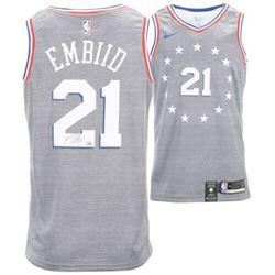 Joel Embiid Signed 76ers Nike City Edition Jersey (Fanatics Hologram)