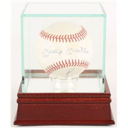 Mickey Mantle, Duke Snider,  Willie Mays Signed OAL Baseball with High Quality Display Case (JSA ALO