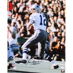 "Roger Staubach Signed Dallas Cowboys 16x20 Photo Inscribed ""SB VI MVP"" (JSA COA)"
