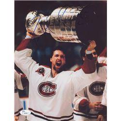 Patrick Roy Signed Montreal Canadiens  8.5x11 Photo (JSA COA)