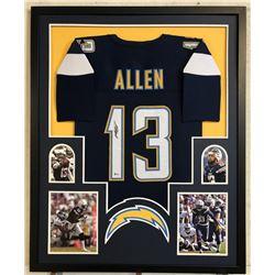 Keenan Allen Signed Los Angeles Chargers 34x42 Custom Framed Jersey (Beckett COA)