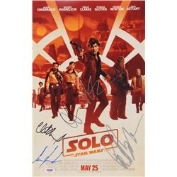 """""""A Star Wars Story: Solo"""" 11x17 Movie Poster Cast-Signed by (5) with Emilia Clarke, Alden Ehreneich,"""