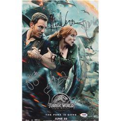 """Jurassic World: Fallen Kingdom"" 11x17 Photo Cast-Signed by (7) with Chris Pratt, Bryce Dallas Howar"