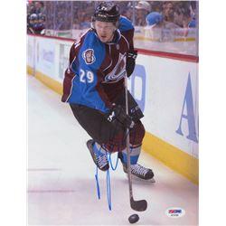 Nathan MacKinnon Signed Colorado Avalanche 8.5x11 Photo (PSA COA)