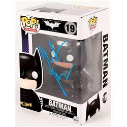 "Christian Bale Signed ""The Dark Knight Trilogy"" Batman #19 Funko Pop! Vinyl Figure (PSA COA)"