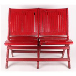 Authentic Pair of Chicago Blackhawks Stadium Seats Signed by (4) with Stan Mikita, Phil Esposito, Bo