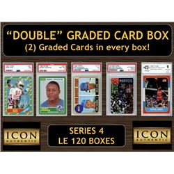 "Icon Authentic ""Double"" Graded Card Box (2) Cards per Box! Series 4 (Guaranteed 2 Cards per Box)"